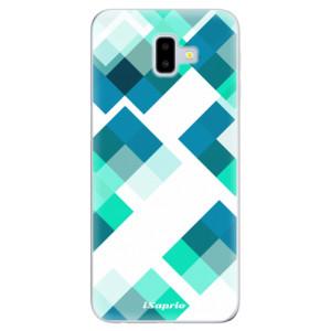 Odolné silikonové pouzdro iSaprio - Abstract Squares 11 na mobil Samsung Galaxy J6 Plus
