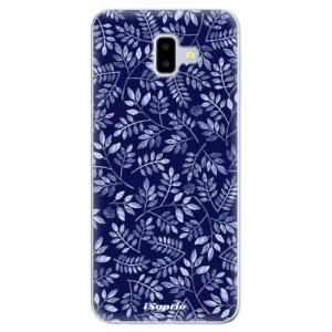 Odolné silikonové pouzdro iSaprio - Blue Leaves 05 na mobil Samsung Galaxy J6 Plus