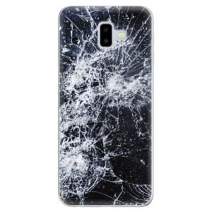 Odolné silikonové pouzdro iSaprio - Cracked na mobil Samsung Galaxy J6 Plus