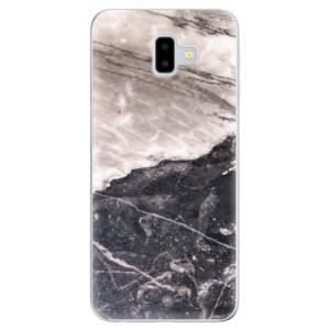 Odolné silikonové pouzdro iSaprio - BW Marble na mobil Samsung Galaxy J6 Plus