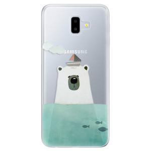 Odolné silikonové pouzdro iSaprio - Bear With Boat na mobil Samsung Galaxy J6 Plus