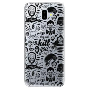 Odolné silikonové pouzdro iSaprio - Comics 01 - black na mobil Samsung Galaxy J6 Plus