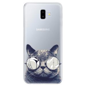 Odolné silikonové pouzdro iSaprio - Crazy Cat 01 na mobil Samsung Galaxy J6 Plus