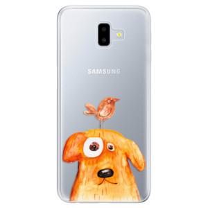 Odolné silikonové pouzdro iSaprio - Dog And Bird na mobil Samsung Galaxy J6 Plus