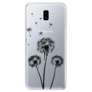 Odolné silikonové pouzdro iSaprio - Three Dandelions - black na mobil Samsung Galaxy J6 Plus