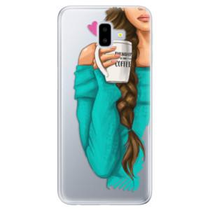 Odolné silikonové pouzdro iSaprio - My Coffe and Brunette Girl na mobil Samsung Galaxy J6 Plus