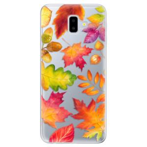 Odolné silikonové pouzdro iSaprio - Autumn Leaves 01 na mobil Samsung Galaxy J6 Plus