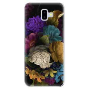 Odolné silikonové pouzdro iSaprio - Dark Flowers na mobil Samsung Galaxy J6 Plus