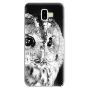 Odolné silikonové pouzdro iSaprio - BW Owl na mobil Samsung Galaxy J6 Plus