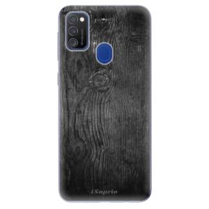 Odolné silikonové pouzdro iSaprio - Black Wood 13 na mobil Samsung Galaxy M21