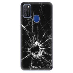 Odolné silikonové pouzdro iSaprio - Broken Glass 10 na mobil Samsung Galaxy M21
