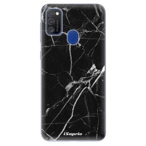 Odolné silikonové pouzdro iSaprio - Black Marble 18 na mobil Samsung Galaxy M21