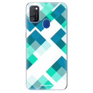 Odolné silikonové pouzdro iSaprio - Abstract Squares 11 na mobil Samsung Galaxy M21