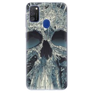 Odolné silikonové pouzdro iSaprio - Abstract Skull na mobil Samsung Galaxy M21