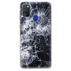 Odolné silikonové pouzdro iSaprio - Cracked na mobil Samsung Galaxy M21