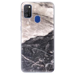 Odolné silikonové pouzdro iSaprio - BW Marble na mobil Samsung Galaxy M21