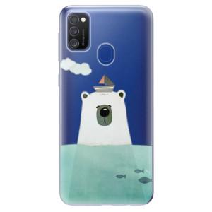 Odolné silikonové pouzdro iSaprio - Bear With Boat na mobil Samsung Galaxy M21