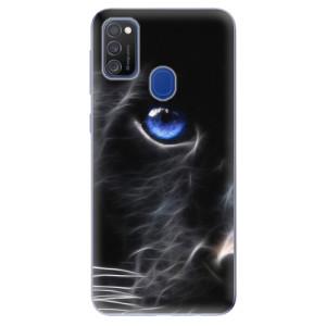 Odolné silikonové pouzdro iSaprio - Black Puma na mobil Samsung Galaxy M21