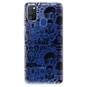 Odolné silikonové pouzdro iSaprio - Comics 01 - black na mobil Samsung Galaxy M21