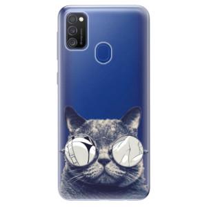 Odolné silikonové pouzdro iSaprio - Crazy Cat 01 na mobil Samsung Galaxy M21