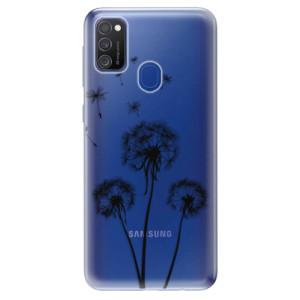 Odolné silikonové pouzdro iSaprio - Three Dandelions - black na mobil Samsung Galaxy M21