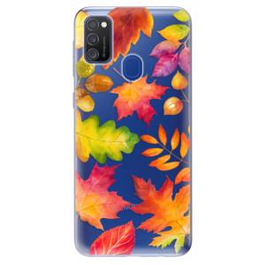 Odolné silikonové pouzdro iSaprio - Autumn Leaves 01 na mobil Samsung Galaxy M21