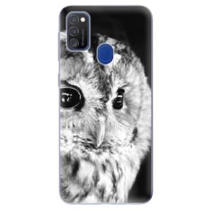 Odolné silikonové pouzdro iSaprio - BW Owl na mobil Samsung Galaxy M21