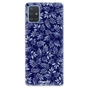 Odolné silikonové pouzdro iSaprio - Blue Leaves 05 na mobil Samsung Galaxy A51