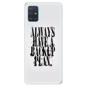 Odolné silikonové pouzdro iSaprio - Backup Plan na mobil Samsung Galaxy A51