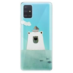 Odolné silikonové pouzdro iSaprio - Bear With Boat na mobil Samsung Galaxy A51