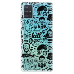 Odolné silikonové pouzdro iSaprio - Comics 01 - black na mobil Samsung Galaxy A51