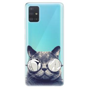 Odolné silikonové pouzdro iSaprio - Crazy Cat 01 na mobil Samsung Galaxy A51