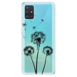 Odolné silikonové pouzdro iSaprio - Three Dandelions - black na mobil Samsung Galaxy A51