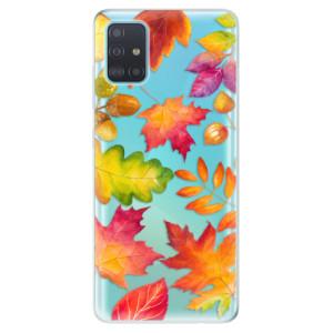 Odolné silikonové pouzdro iSaprio - Autumn Leaves 01 na mobil Samsung Galaxy A51