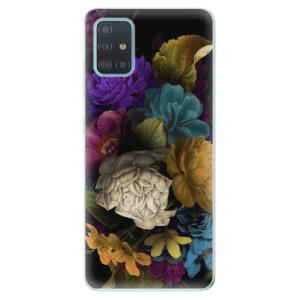 Odolné silikonové pouzdro iSaprio - Dark Flowers na mobil Samsung Galaxy A51