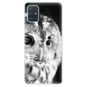 Odolné silikonové pouzdro iSaprio - BW Owl na mobil Samsung Galaxy A51