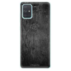 Odolné silikonové pouzdro iSaprio - Black Wood 13 na mobil Samsung Galaxy A71