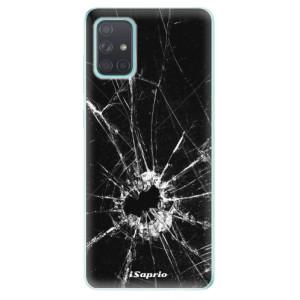 Odolné silikonové pouzdro iSaprio - Broken Glass 10 na mobil Samsung Galaxy A71