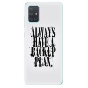 Odolné silikonové pouzdro iSaprio - Backup Plan na mobil Samsung Galaxy A71