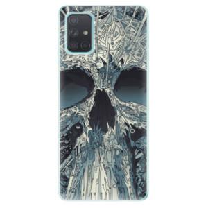 Odolné silikonové pouzdro iSaprio - Abstract Skull na mobil Samsung Galaxy A71