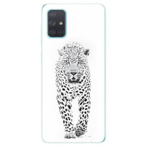 Odolné silikonové pouzdro iSaprio - White Jaguar na mobil Samsung Galaxy A71