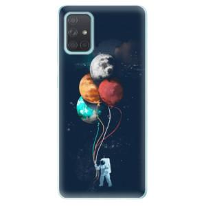 Odolné silikonové pouzdro iSaprio - Balloons 02 na mobil Samsung Galaxy A71