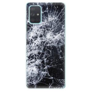 Odolné silikonové pouzdro iSaprio - Cracked na mobil Samsung Galaxy A71