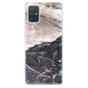 Odolné silikonové pouzdro iSaprio - BW Marble na mobil Samsung Galaxy A71