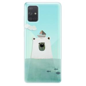 Odolné silikonové pouzdro iSaprio - Bear With Boat na mobil Samsung Galaxy A71