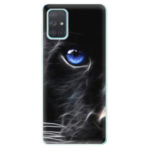 Odolné silikonové pouzdro iSaprio - Black Puma na mobil Samsung Galaxy A71