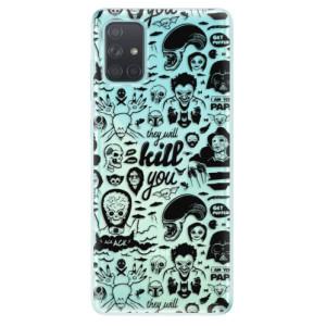 Odolné silikonové pouzdro iSaprio - Comics 01 - black na mobil Samsung Galaxy A71
