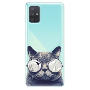 Odolné silikonové pouzdro iSaprio - Crazy Cat 01 na mobil Samsung Galaxy A71