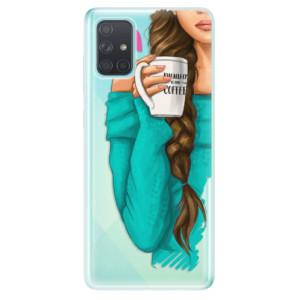 Odolné silikonové pouzdro iSaprio - My Coffe and Brunette Girl na mobil Samsung Galaxy A71 - poslední kousek za tuto cenu