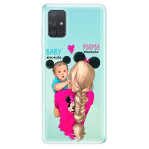 Odolné silikonové pouzdro iSaprio - Mama Mouse Blonde and Boy na mobil Samsung Galaxy A71